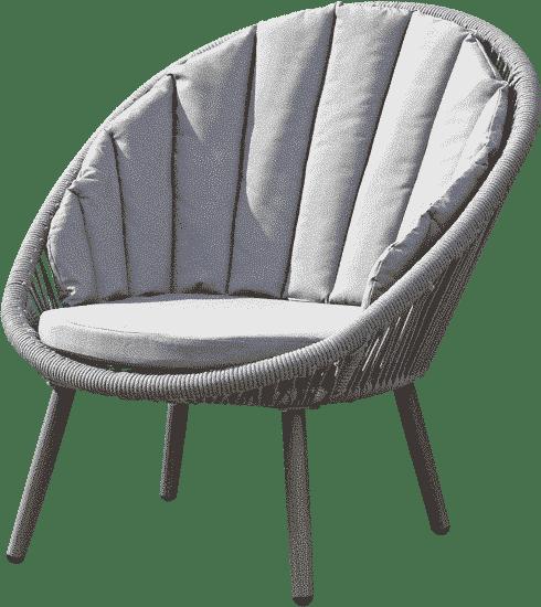 Muebles de exteriores ergonómicos de color gris claro